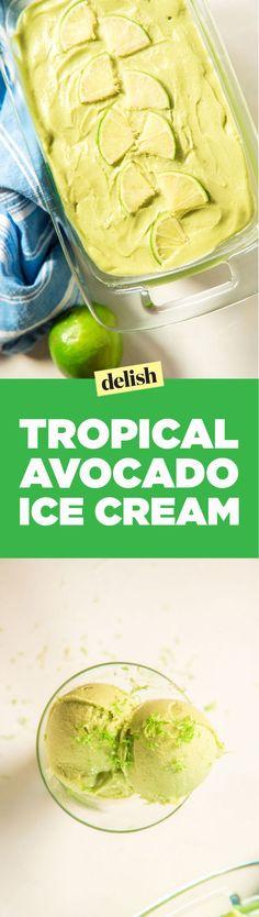 Tropical Avocado Ice Cream