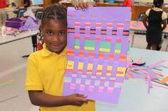 Fun Weaving Project for KIds. #crafts #art #education #kids
