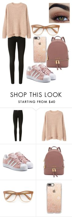 """Winter school day☃️"" by sarahype on Polyvore featuring J Brand, MANGO, adidas Originals, Wildfox and Casetify"