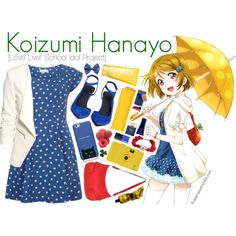 Koizumi Hanayo [Love Live! School Idol Project] by anggieputeri on Polyvore