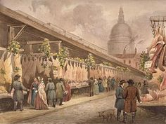 View of Newgate Market in Paternoster Square, c1860 | Flickr - Photo Sharing!