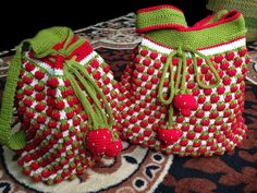 Crochet Strawberry Backpack DIY Tutorial