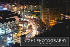 12 Tips on Night Photography: Night photography is a whole different ballgame than typical 'day' photography. You'll have to reverse some settings typically used in the day due to the sun not being there for you. Photography 12 Tips on Night Photography Photography Settings, History Of Photography, Photography Basics, Photography Tips For Beginners, Scenic Photography, Photography Classes, Photography Camera, Photoshop Photography, Night Photography