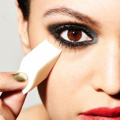 This one trick will make your lipstick and eyeliner stay on all day