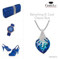 Coordinate Your Outfits with Classic Blue Jewellery from #GemLNIndia.
