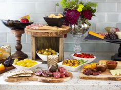 How to Host a Stock-The-Bar Wedding Shower: Its best to keep food simple at a stock-the-bar party, due mostly to the fact that wine and spirits are meant to be the main focus. To keep guests from becoming hungry, create a layout of finger foods displayed on a variety of vessels. Cheeses, breads and meats are usually a big hit with guests, and theyre easy to prepare and display. From DIYnetwork.com