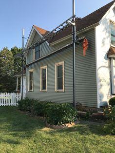 Much needed exterior work. Elgin, Illinois, west side of Fox River. Elgin Illinois, Folk Victorian, West Side, Fox, Exterior, River, Outdoor Decor, Nature, Home Decor