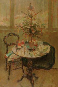 """""""Christmas Table"""" - Margaret Thomas. British b.1916-2016"""