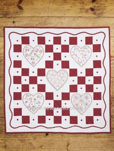 Buy Redwork Nine Patch Quilt Sewing Pattern - DOWNLOAD ONLY Online at www.sewandso.co.uk