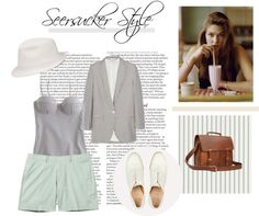 """""""seersucker style"""" by only-vintage on Polyvore"""