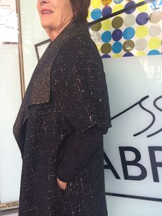 Sydney Jacket made up by customer Maree in 100% Wool double knit Light Latitude