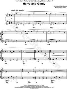 Harry and Ginny sheet music from Harry Potter and the Deathly Hallows, Part 1