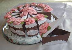 Торт из бумаги с пожеланиями на день рождения своими руками + видео