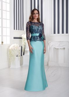 Evening Dresses With Sleeves, Evening Gowns, Pretty Dresses, Beautiful Dresses, Myanmar Dress Design, Ladies Day Dresses, Mother Of Groom Dresses, Short Dresses, Formal Dresses