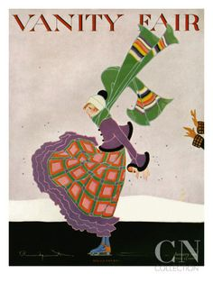 Vanity Fair Cover - January 1916 Poster Print by Ethel Rundquist at the Condé Nast Collection
