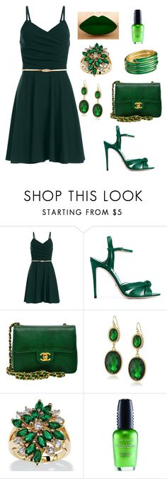 """""""Untitled #34"""" by gerard-arthur-way ❤ liked on Polyvore featuring Gucci, Chanel, 1928, Ciner, Palm Beach Jewelry and Wet n Wild"""