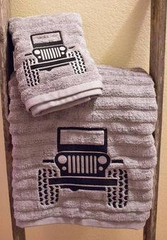 Jeep-Jeep Towel-Embroidery-Bath Towel- Home Decor-Bathroom Decor-Country Piece Set Jeep-Jeep Handtuch-Stickerei-Badetuch Home Decor-Badezimmer