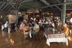 Dining room at the historic Fryemont Inn, a country inn built in 1923 by timber baron Amos Frye in Bryson City, NC.