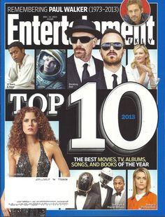 Top 10 Entertainment Weekly Dec 2013 Paul Walker Jena Malone Lone Survivor