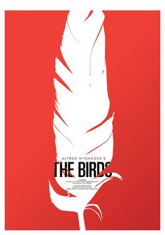 """Saul Bass """"The Birds"""" movie poster. Ok, so this is Saul Bass . Graphisches Design, Buch Design, Design Ideas, Clever Design, Hitchcock Film, Alfred Hitchcock, Gig Poster, Saul Bass Posters, Art Posters"""