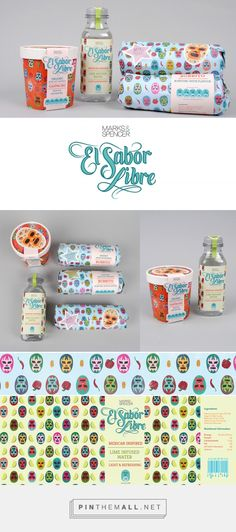 El Sabor Libre via The Dieline branding & packaging curated by Packaging Diva PD. Who wants a burrito for lunch now : )