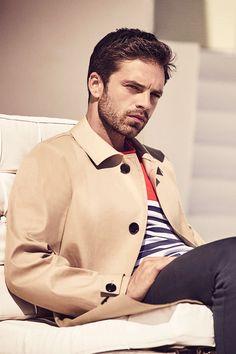 Your source for everything Sebastian Stan. Sebastian Stan, Bucky Barnes, Beautiful Boys, Pretty Boys, Steel Blue Eyes, James Barnes, Man Thing Marvel, Marvel Actors, Winter Soldier