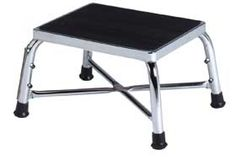 Brewer Bariatric Step Stool Made of chrome plated 16 gauge steel for durability.
