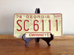 Vintage License Plate Georgia Car Tag by vintage19something