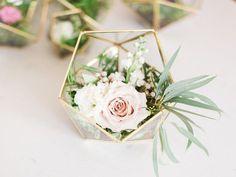 Wedding Centerpiece - Geometric Glass Terrarium - Medium Icosahedron - Home Decor - Medium Terrarium - Gold Terrarium