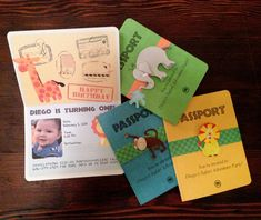 Baby Safari birthday invites created by my husband Miguel for our little chubbers.