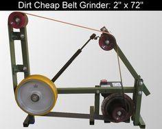 D.Comeau Custom Knives - DIY Knifemaker's Info Center: Dirt Cheap 2 x 72 Belt Grinder Build