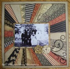 This awesome heritage quilt could be easily adapted for a vintage scrapbook page.