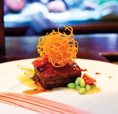 Best Asian Food: Ocean Zen.  A favorite dish at Ocean Zen is the Soy Rock Sugar-Braised Pork Bacon appetizer served with pineapple puree and edamame.