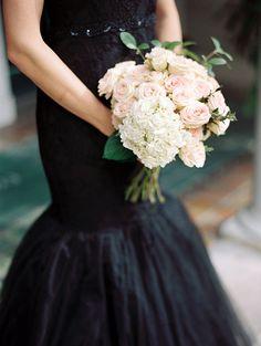 Elegant Black Dress Bridal Inspiration - Wedding Sparrow