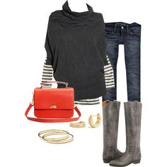 I wish I were this stylish!  :)  Love the boots...