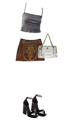 """""""Untitled #144"""" by sammyalipan ❤ liked on Polyvore featuring Claudie Pierlot, Yves Saint Laurent and Chanel"""