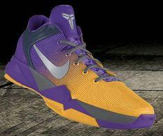 newest 95c19 14cf1 Nike Zoom Kobe VII Lakers shoes Purple Gold Kobe 8 Shoes, Kobe Bryant Shoes,