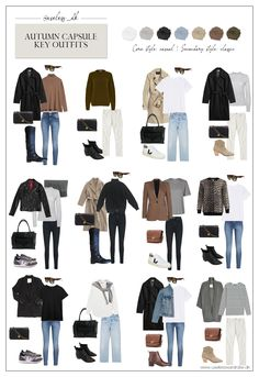 Capsule Outfits, Fall Capsule Wardrobe, Fashion Capsule, Winter Fashion Outfits, Casual Fall Outfits, Mode Outfits, Fall Winter Outfits, Autumn Winter Fashion, Autumn Casual