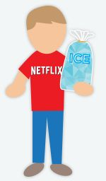 DIY Halloween Costume: Netflix and Chill - For all you meme-loving bros out there, this costume if for you. Throw on some sweatpants, slippers and a red t-shirt. Either use white duck tape or paint to write Netflix on your shirt.  You can also print off the logo and tape it to your shirt. Bring out a bag of ice with you. You may come in handy to anyone in need. The less messy version is sticking bubble wrap inside of a clear bag with the word ICE or CHILL on it.