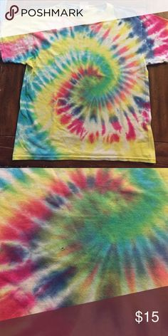 Tie die Color full t-shirt Tie dye nice colors t-shirt for youth Gildan Shirts & Tops Tees - Short Sleeve