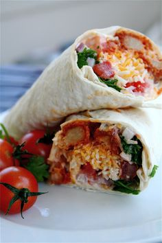 "Buffalo ""Chicken"" Ranch Wraps 