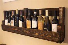 pallet wine bottle rack.