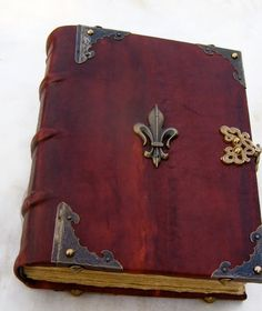 handmade Bookbinding leather journal medieval by DreamingOldBooks, €95.00