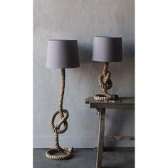 maritime tischlampe lampe tau seil weier schirm tischleuchte lampe in mbel wohnen beleuchtung lampen ebay bahar pinterest diy light - Maritime Lampen