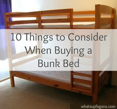 10 Things to Look for when buying a bunk bed