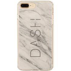 White Marble iPhone Case 6+/7+ ($32) ❤ liked on Polyvore featuring accessories, tech accessories, apple iphone case, iphone cases, iphone cover case, white iphone case and iphone sleeve case