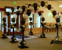 Balloon arch entryway.  #balloon-arch #balloon-decor #balloon-wedding-decor…                                                                                                                                                                                 More