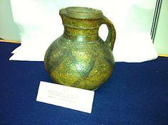 English 13th -14th century, buff earthenware, lead glaze