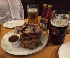 monthly alcohol intake #beer #beerstagram #beergeek #beerporn #goodbeer #instabeer #porkknuckle #dietstartsmonday #whatdiet #instafood #instafoodie #foodie #nomnomnom #nomnom #foodporn by kelincigede #haxenhaus #people #food