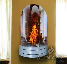 Pureflame Vesta - Wall Mounted Ethanol Fireplace